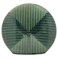 Sagebrook Home Decorative 10.5-Inch Round and Flat Ceramic Vase in Green/Blue