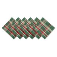 Design Imports Plaid Napkins in Dark Green (Set of 6)