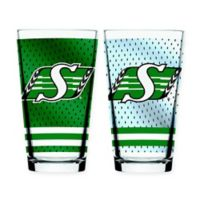 CFL Saskatchewan Roughriders 2-Piece Mixing Glass Set