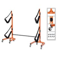 Rad Sportz Big EZ 2-Boat Rolling Rack in Orange