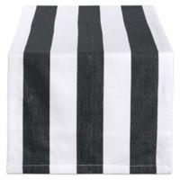 Design Imports Dobby Stripe 72-Inch Table Runner in Black/White