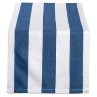 Design Imports Dobby Stripe 108-Inch Table Runner in Navy/White