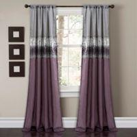 Night Sky 84-Inch Rod Pocket Window Curtain Panel in Purple