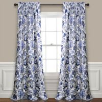 Cynthia Jacobean 95-Inch Rod Pocket Window Curtain Panel Pair