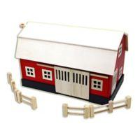 Homeware Big Wooden Barn in Red