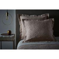 Frette At Home Boho Fashion European Pillow Sham in Powder Pink