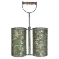 Galvanized Metal Planter Cans with Handle