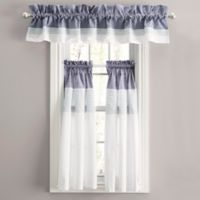 Nora Rod Pocket Window Curtain Tier Pair in Navy