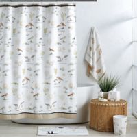 Bird Haven 72-Inch x 72-Inch Shower Curtain in Taupe