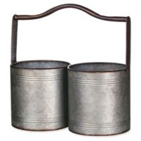 Metal Pot Planters with Handle