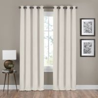 Shauna 95-Inch Grommet Window Curtain Panel in Champagne