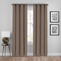 Shauna 108-Inch Grommet Window Curtain Panel in Mocha
