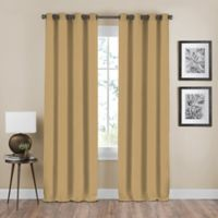 Shauna 63-Inch Grommet Window Curtain Panel in Gold