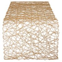 Design Imports Woven 72-Inch Table Runner in Taupe