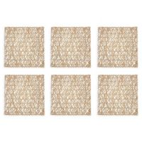 Design Imports Woven Square Placemats in Taupe (Set of 6)