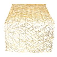 Design Imports Woven 72-Inch Table Runner in Golden