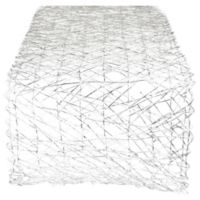 Design Imports Woven 72-Inch Table Runner in Silver