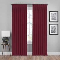 Shauna 108-Inch Pinch Pleat Back Tab Room Darkening Window Curtain Panel in Merlot