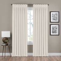 Shauna 63-Inch Pinch Pleat Back Tab Room Darkening Window Curtain Panel in Champagne
