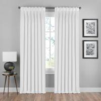 Shauna 84-Inch Pinch Pleat Back Tab Room Darkening Window Curtain Panel in White