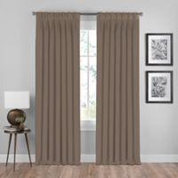 Shauna 108-Inch Pinch Pleat Back Tab Room Darkening Window Curtain Panel in Mocha