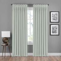 Shauna Pinch Pleat Back Tab Room Darkening Window Curtain Panel in Mist