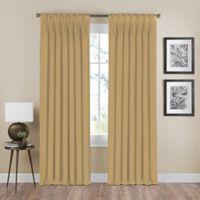 Shauna 95-Inch Pinch Pleat Back Tab Room Darkening Window Curtain Panel in Gold