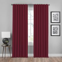 Shauna 63-Inch Rod Pocket/Back Tab Room Darkening Window Curtain Panel in Merlot