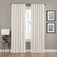 Shauna 84-Inch Rod Pocket/Back Tab Room Darkening Window Curtain Panel in Champagne