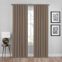Shauna 84-Inch Rod Pocket/Back Tab Room Darkening Window Curtain Panel in Mocha