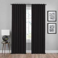 Shauna 63-Inch Rod Pocket/Back Tab Room Darkening Window Curtain Panel in Black