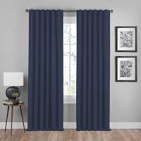 Shauna 84-Inch Rod Pocket/Back Tab Room Darkening Window Curtain Panel in Indigo