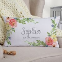 Floral Baby Lumbar Throw Pillow