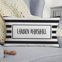 Black & White Lumbar Baby Throw Pillow