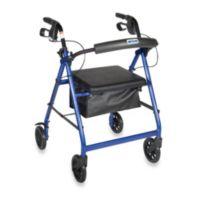 Drive Medical Four-Wheeled Rollator w/6-Inch Wheels in Blue