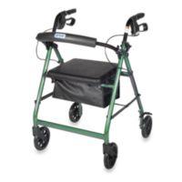 Drive Medical Four-Wheeled Rollator w/6-Inch Wheels in Green
