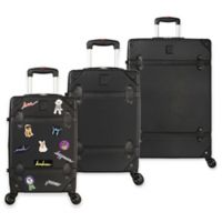 ED Ellen DeGeneres Creston 3-Piece Hardside Spinner Luggage Set in Black