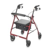 "Drive Medical Four-Wheeled Rollator w/6"" Wheels"