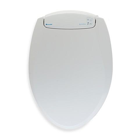 brondell lumawarm heated nightlight toilet seat white bed bath beyond