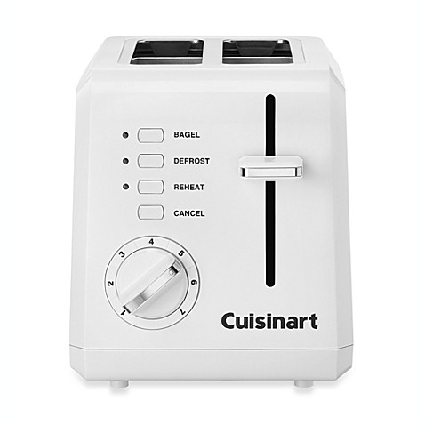 Cuisinart 174 White Compact Cool Touch 2 Slice Toaster Bed