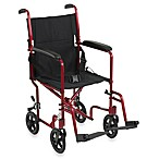Drive Medical Red Aluminum Transport Wheelchairs