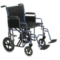 Drive Medical Bariatric Heavy-Duty 20-Inch Wheelchair with Swing Away Footrest in Blue