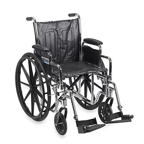 Drive Medical Chrome Sport 18 Inch Wheelchair Bed Bath