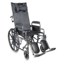 Drive Medical Silver Sport Full-Reclining 20-Inch Wheelchair
