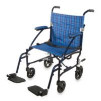 Drive Medical Fly-Lite Aluminum Transport Chair in Blue