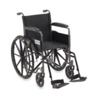 Drive Medical Silver Sport Wheelchair with Full Arms and Swing Away Removable Footrest
