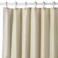 Extra Heavy Weight Vinyl Shower Curtain Liner In Bone