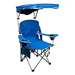 Quik Chair Quik Shade Folding Arm Camping Chair in Royal Blue