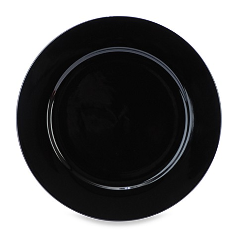 Everyday White® by Fitz and Floyd® 10 1/2-Inch Rim Dinner Plate in Black
