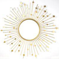 Starburst 33.5-Inch Round Wall Mirror in Gold